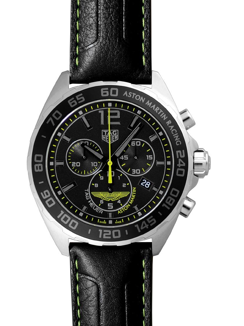 【新品】タグホイヤー CAZ101P.FC8245 フォーミュラ1 アストンマーティン スペシャルエディション クロノグラフ SS/ブラックレザー ブラック クォーツ メンズ