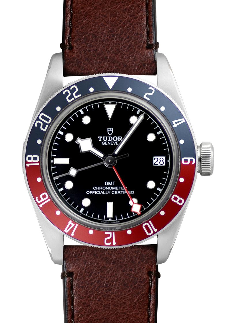 【新品】チューダー(チュードル) 79830RB ブラックベイ GMT SS/レザー ブラック 自動巻き レッド/ブルーベゼル