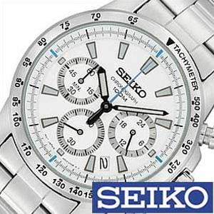 5年保証対象 セイコー腕時計 SEIKO 時計 ビジネス クロノグラフ セイコー時計 セイコー SEIKO腕時計 SEIKO時計 メンズ腕時計 クロノグラフセイコー時計 腕時計セイコー 腕時計 プレゼント 海外モデル SSB025PC ギフト お祝い ホワイト 成人式 実物 入試 SEIKO腕時計セイコー 父の日 超歓迎された SSB025P1 受験 冬