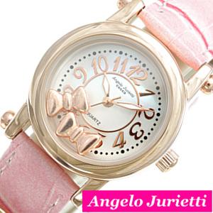 AngeloJurietti腕時計 アンジェロジュリエッティ時計 Angelo Jurietti 腕時計 アンジェロ 驚きの価格が実現 待望 ジュリエッティ 時計 コッコ cocco おしゃれ プレゼント AngeloJurietti時計 ホワイト AJ4051-PGWH-PK アンジェロジュリエッティ腕時計 お祝い ギフト かわいい レディース腕時計