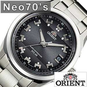 オリエント腕時計 ORIENT時計 ORIENT 腕時計 オリエント 時計 ネオ セブンティーズ Neo70's メンズ ブラック WV0061SE メタル ベルト 電波 ソーラー 正規品 防水 シルバー グレー RR700 送料無料 プレゼント ギフト 冬 入試 受験 成人式 お祝い