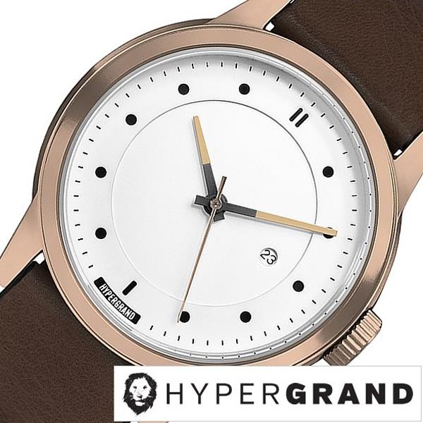 [あす楽]ハイパーグランド腕時計 HYPER GRAND時計 HYPER GRAND 腕時計 ハイパーグランド 時計 マーベリック シリーズ クラシック レザー MAVERICK SERIES CLASSIC LEATHER メンズ レディース ホワイト CW3H4RWBRW ピンクゴールド ブラウン 冬 入試 受験 成人式 お祝い