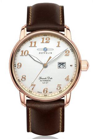 [あす楽]ツェッペリン腕時計 ZEPPELIN時計 ZEPPELIN 腕時計 ツェッペリン 時計 グラーツェッペリン LZ127 Grafzeppelin メンズ アイボリー ZEP-7652-5 革 ベルト 機械式 自動巻き ローズゴールド ブラウン 送料無料 プレゼント ギフト 冬 入試 受験 成人式 お祝い