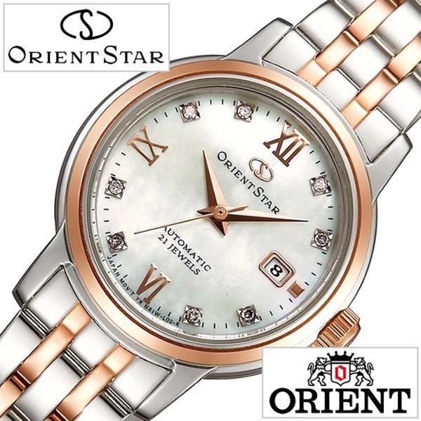 オリエント腕時計 ORIENT時計 ORIENT 腕時計 オリエント 時計 オリエントスター スタンダード Orient Star Standard レディース ホワイト WZ0441NR[メタル ベルト 機械式 自動巻 メカニカル シルバー ピンクゴールド ホワイトシェル][][プレゼント]
