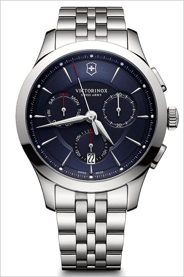 ビクトリノックス スイスアーミー腕時計  VICTORINOX SWISSARMY 腕時計 ビクトリノックス 時計 アライアンス クロノグラフ ALLIANCE メンズ ブルー VIC-241746[正規品 メタル ベルト 防水 ミリタリー ウォッチ シルバー][アウトドア 登山][][プレゼント][あす楽]