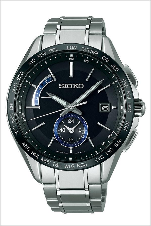 セイコー ブライツ 時計 SEIKO 腕時計 BRIGHTZ メンズ ブラック SAGA235[人気 正規品 ブランド 防水 電波ソーラー チタン シルバー][卒業 入学 就職 祝い 中学生 高校生 大学生 社会人]