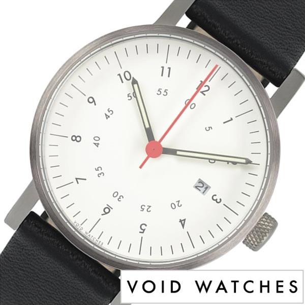 [あす楽]ヴォイド 時計 VOID 腕時計 メンズ レディース ホワイト VID020044 正規品 北欧 ミニマル シンプル 個性的 インテリア 人気 ブランド 革 レザー ペアウォッチ ユニセックス デザイナーウォッチ ファッション コーデ ブラック 送料無料 冬 入試 受験 成人式 お祝い