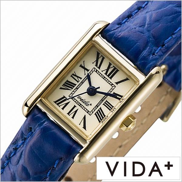 ヴィーダプラス腕時計 VIDA+時計 VIDA+ 腕時計 ヴィーダプラス 時計 ミニレクタンギュラー Mini Rectangular レディース アイボリー J83914-LE-NV 正規品 新作 防水 人気 革 レザー ベルト レクタンギュラー型 スクエア型 ゴールド ブルー 冬 入試 受験 成人式 お祝い