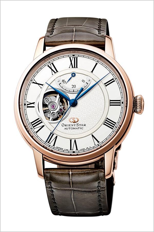 オリエント 時計 オリエントスター セミスケルトン ORIENT 腕時計 ORIENT STAR SEMI SKELETON  メンズ ホワイト RK-HH0003S[正規品 新作 人気 ブランド 防水 機械式 自動巻 革 レザー ブラウン ピンクゴールド プレゼント ギフト][]
