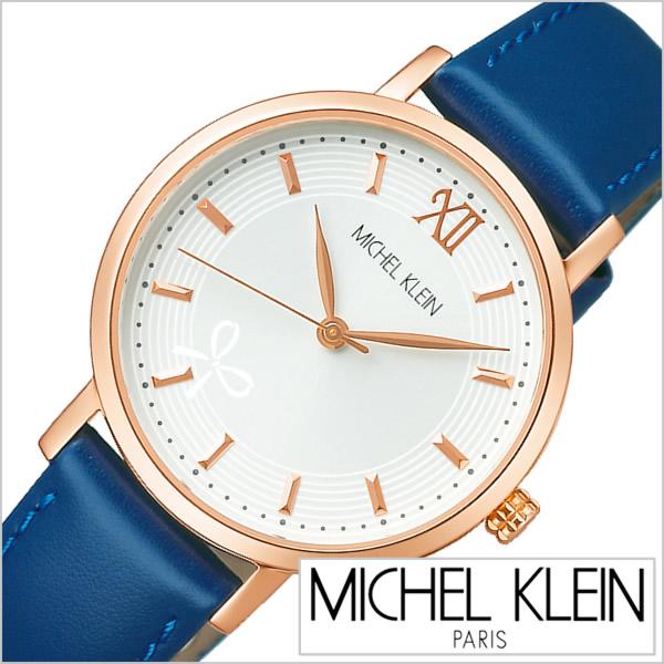 ミッシェルクラン 腕時計 MICHELKLEIN 時計 レディース ホワイト AJCK095[正規品 人気 定番 おすすめ ブランド 革 レザー ベルト ネイビー バーインデックス リボン ビジネス カジュアル シンプル ラウンド かわいい プレゼント ギフト][]