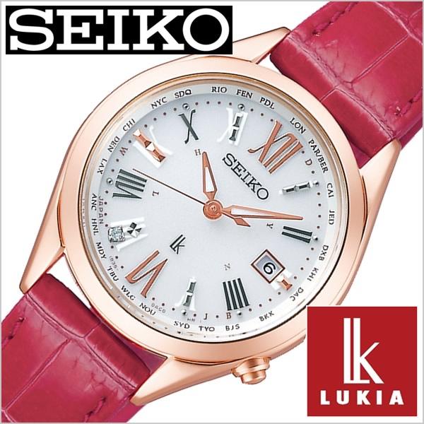 セイコー ルキア 腕時計 SEIKO 時計 LUKIA レディース ホワイト SSQV042 正規品 ソーラー 電波時計 上品 シンプル 人気 おすすめ ビジネス ビジカジ 大人 かわいい おしゃれ ファッション カレンダー 革 レザー ピンク プレゼント ギフト 冬 入試 受験 成人式 お祝い
