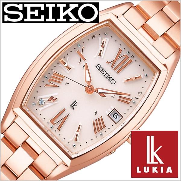 セイコー ルキア 腕時計 SEIKO 時計 LUKIA レディース ベージュ SSVW118 正規品 ソーラー 電波時計 上品 シンプル 人気 おすすめ ビジネス ビジカジ 大人 かわいい おしゃれ ファッション カレンダー トノー型 ピンク ローズゴールド ステンレス プレゼント ギフト 冬 入試