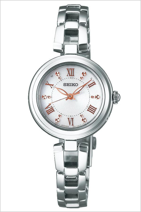 セイコーセレクション 腕時計 SEIKO SELECTION 時計 レディース ホワイト SWFH089[正規品 ソーラー 電波時計 人気 おすすめ 上品 シンプル かわいい おしゃれ ファッション カレンダー ラウンド ホワイト シルバー ステンレス プレゼント ギフト]