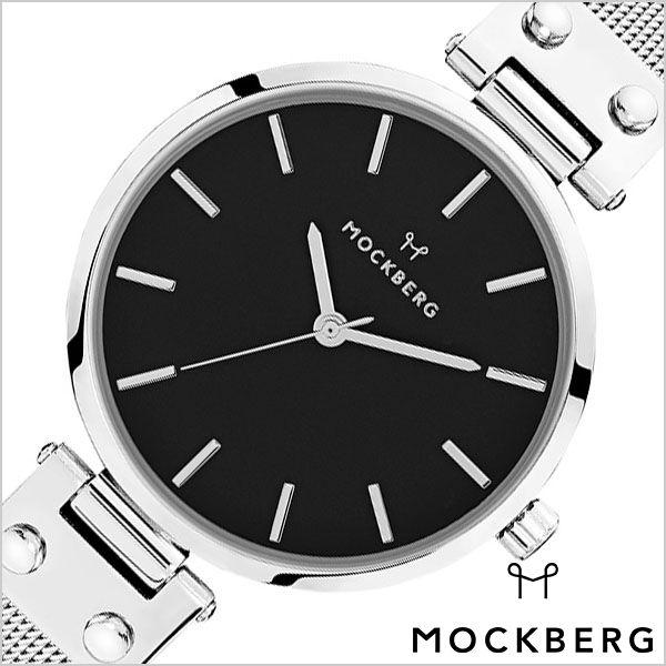 モックバーグ 腕時計 MOCKBERG 時計 メッシュ Mesh Elise Noir メンズ レディース ブラック MO1604 正規品 人気 ブランド ペアウォッチ カップル 上品 エレガント クラシック ビジネス スーツ アクセサリー シンプル ラウンド ステンレス シルバー プレゼント ギフト 冬 入試