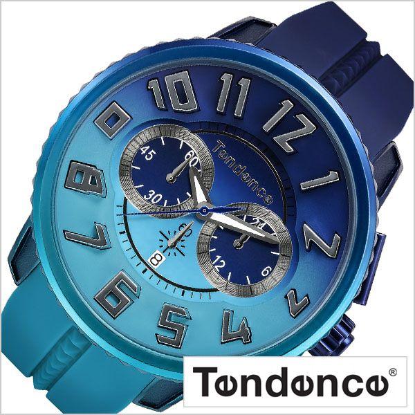 テンデンス 腕時計 Tendence 時計 ガリバー ディ カラー Gulliver De Color メンズ レディース ユニセックス ネイビー ブルー TY146101 正規品 ビッグフェイス 立体 数字 人気 おすすめ おしゃれ 個性的 自然 アース
