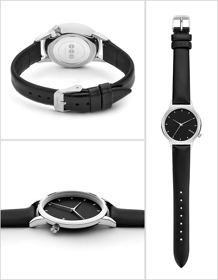 コモノ レキシー 腕時計 KOMONO LEXI 時計 メンズ レディース ブラック KOM-W2755 [ペア お揃い コーデ ウォッチ 人気 おすすめ かわいい おしゃれ 革 レザー ベルト シンプル 丸 ラウンド ブランド プレゼント ギフト]