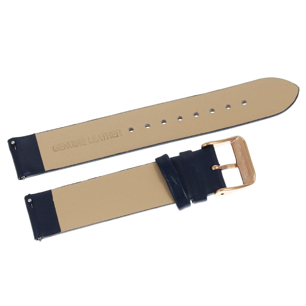 レザーベルト ベルト幅18mm対応 腕時計替えベルト 交換用バンド ネイビー ピンクゴールド メンズ レーディス BT-L-18-NV-PG[付け替え ストラップ 本革 簡単 オシャレ ファッション プレゼント ギフト]