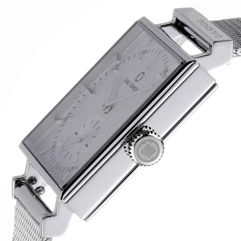 カールエドモンド 時計 CARL EDMOND 腕時計 グラニット Granit レディース ホワイト CEG2901-M18[人気 ブランド 北欧 ミニマル スウェーデン ペアウォッチ 誕生日 記念 祝い ビジネス カジュアル スクエア型 四角 おしゃれ シンプル 母親 彼女 プレゼント ギフト]