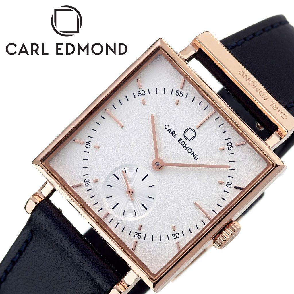 カールエドモンド 時計 CARL EDMOND 腕時計 グラニット Granit レディース ホワイト CEG2911-BLR18 人気 ブランド 北欧 ミニマル レザー 革 ベルト スウェーデン ペアウォッチ 祝い ビジネス カジュアル スクエア型 四角 おしゃれ シンプル 母親 彼女 プレゼント ギフト 冬