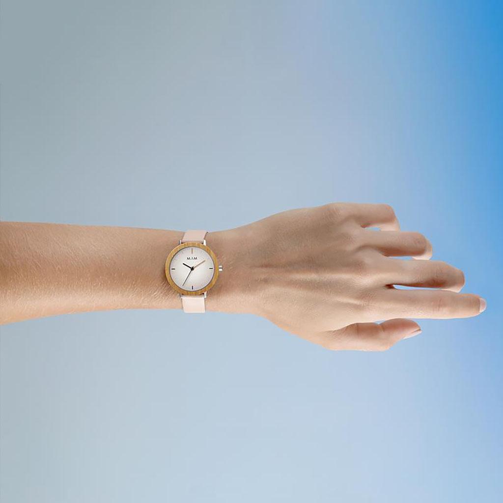 マム ウッドウォッチ 木製 時計 MAM 腕時計 フェラ FERRA レディース ホワイト MAM637[人気 ブランド ベルト レザー おしゃれ シンプル 大人 かわいい 個性的 カジュアル 天然木 サステナブル サステイナブル エシカル エコ ミニマル ファッション プレゼント ギフト 木婚式]