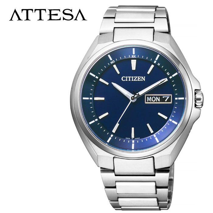 CITIZEN 腕時計 シチズン 時計 アテッサ ATTESA メンズ ブルー AT6050-54L 人気 正規品 ブランド おすすめ 防水 パーフェックス搭載 高機能 ソーラー おしゃれ カジュアル スーツ ビジネス プレゼント ギフト 冬 入試 受験 成人式 お祝い