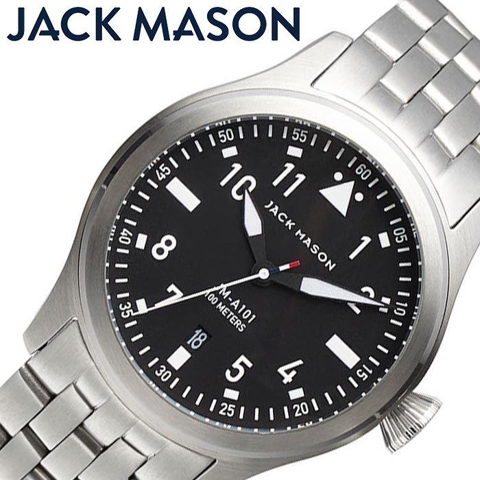 ジャックメイソン 腕時計 JACK MASON 時計 アヴィエイション AVIATION メンズ ブラック JM-A101-010 正規品 人気 おすすめ おしゃれ ブランド 防水 高級 パイロットウォッチ クラシカル シンプル スーツ プレゼント ギフト 冬 入試 受験 成人式 お祝い