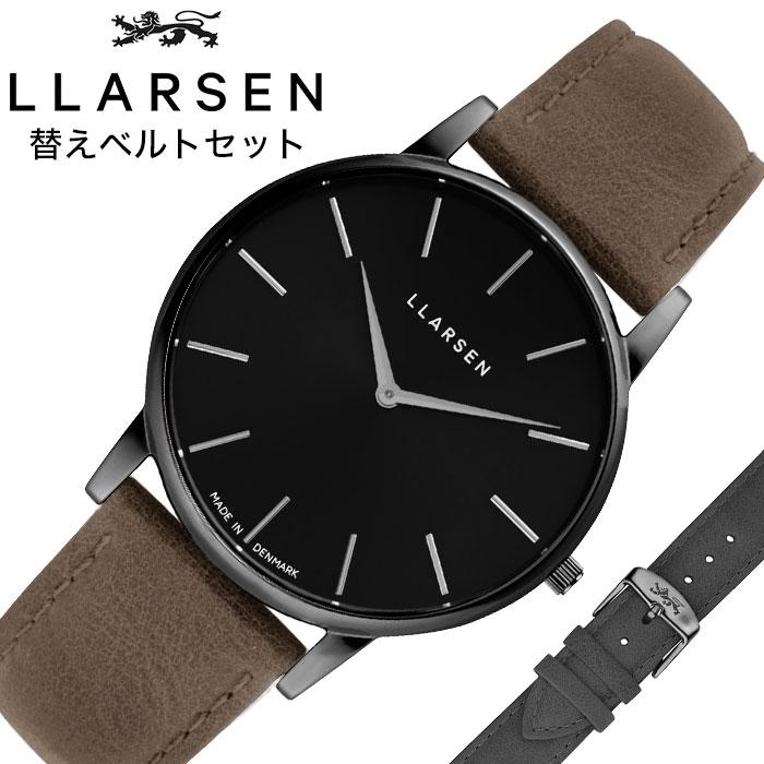 [あす楽]エルラーセン 時計 LLARSEN 腕時計 オリバー Oliver メンズ ブラック LL147OBGYWD 人気 おすすめ ブランド おしゃれ デンマーク 北欧 デザイン インテリア ミニマル フォーマル シック シンプル ファッション プレゼント ギフト 冬 入試 受験 成人式 お祝い