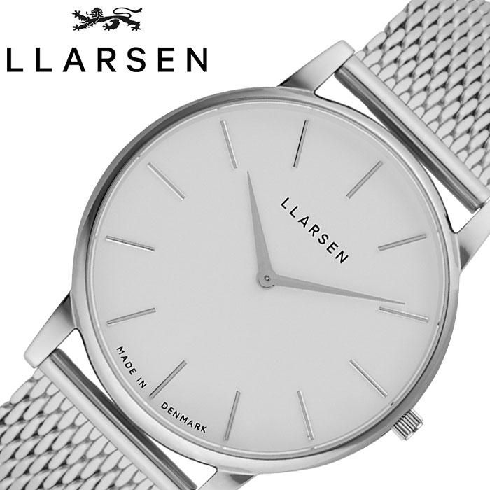 [あす楽]エルラーセン メンズ オリバー 時計 LLARSEN Oliver ホワイト LL147SWSM 人気 ブランド おすすめ 北欧 おしゃれ シンプル シック ファッション ビジネス フォーマル デンマーク プレゼント ギフト 冬 入試 受験 成人式 お祝い