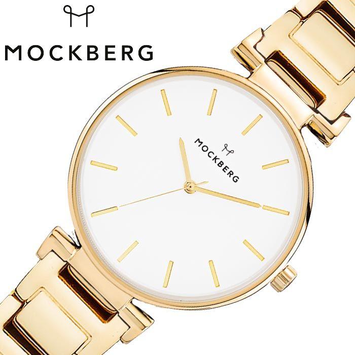 モックバーグ オリジナル 28mm 時計 MOCKBERG Original 28 腕時計 レディース ホワイト MO627 人気 おすすめ ブランド 金属 ベルト シンプル シック 大人 かわいい おしゃれ スリム 薄い 見やすい 丸型 ラウンド 彼女 妻 母親 記念日 誕生日 バースデー プレゼント ギフト