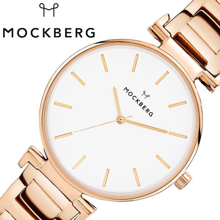 モックバーグ オリジナル 34mm 時計 MOCKBERG Original 34 腕時計 レディース ホワイト MO635 人気 おすすめ ブランド 金属 ベルト シンプル シック 大人 かわいい おしゃれ スリム 薄い 見やすい 丸型 ラウンド 彼女 妻 母親 記念日 誕生日 バースデー プレゼント ギフト