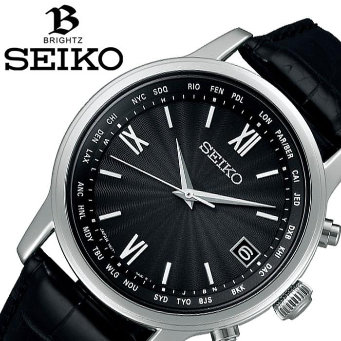 セイコー腕時計 SEIKO時計 SEIKO 腕時計 セイコー 時計 ブライツ BRIGHTZ メンズ ブラック SAGZ105