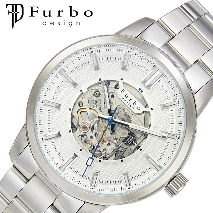 [あす楽]フルボ デザイン 時計 Furbo design 腕時計 ポテンザ POTENZA メンズ ホワイト F8203SISS 人気 ブランド ファッション スーツ ビジネス フォーマル スケルトン 大人 男性 仕事 ビジネス ジャケット 似合う プレゼント ギフト