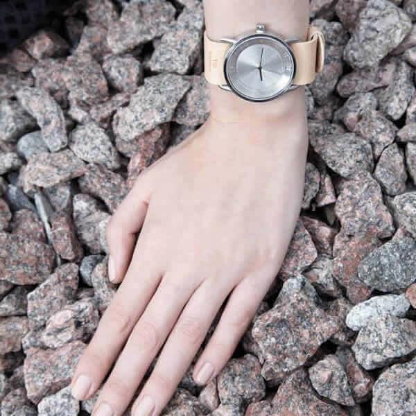 ティッドウォッチズ腕時計 TIDWatches時計 TID Watches 腕時計 ティッド ウォッチズ 時計 クヴァドラ Kvadrat メンズ レディース 男女兼用 シルバー TID02-SV40-SAND[No.2 正規品 おしゃれ 北欧 シンプル 革 レザー バンド シルバー][][プレゼント ギフト]