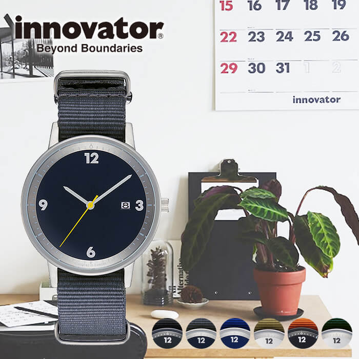 ペアウォッチにもオススメ 国内正規品 innovator時計 イノベーター腕時計 innovator 腕時計 イノベーター 時計 ボールド Bald メンズ レディース ユニセックス シルバー IN-0001 正規品 北欧 ビジネス 新色 ミニマル 倉 スーツ ベルト ギフト 丸型 薄型 プレゼント ペアウォッチ ナイロン カップル お祝い シンプル 人気 冬 送料無料