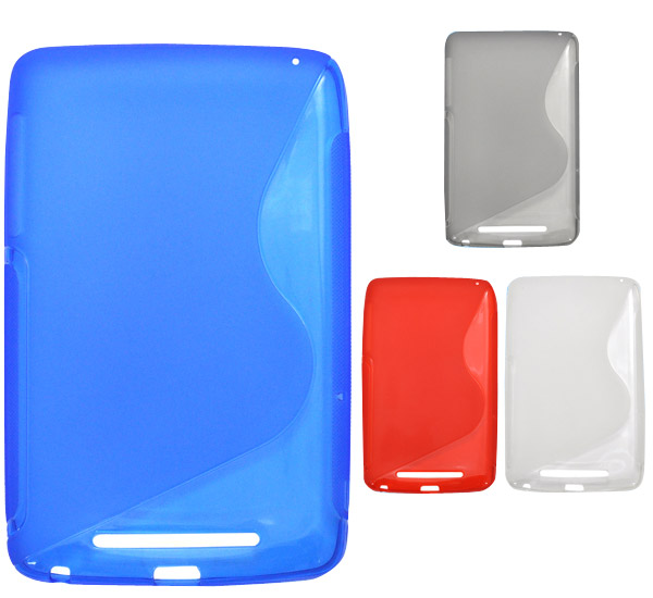 クロネコメール便OK Nexus7 2012 ネクサス7 用ウェーブデザインソフトケース ブルー グレー NEW ARRIVAL レッド Google クリア Acer 大幅値下げランキング