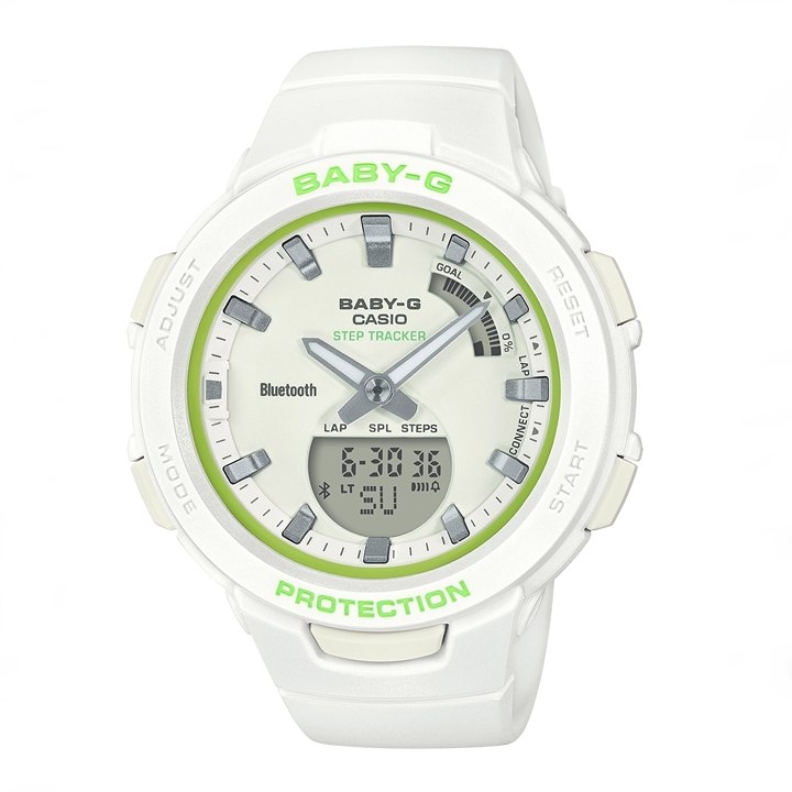 カシオ ベビーG CASIO BABY-G G-SQUAD Spring Sports Colors STEP TRACKER BLE モバイルリンク BSA-B100SC-7AJF 送料無料