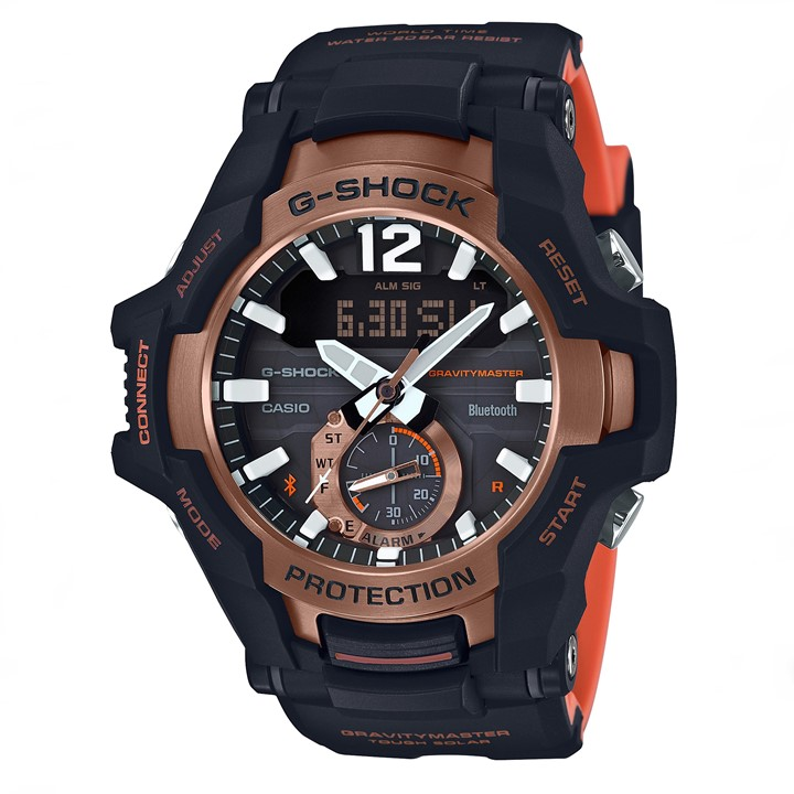 カシオ Gショック CASIO G-SHOCK NEW GRAVITYMASTER Bluetooth 電波ソーラー GR-B100-1A4JF 送料無料