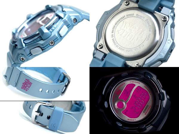 + Casio baby G Reef overseas model digital watch pink Crystal metallic light blue urethane belt BG-3000X-2