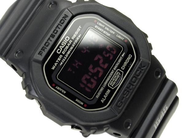 + Casio reimport G shock digital watch マットブラックレッドアイ black polyurethane belt DW-5600MS-1