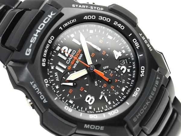 CASIO G-SHOCKカシオ 日本未発売海外ModelGショック アナログChroographWrist watch Stainless steelBelt G-1100BD-1A