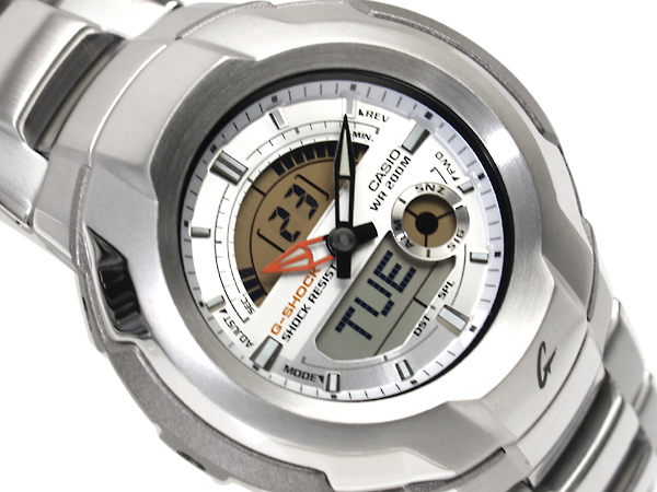 CASIO G-SHOCKカシオ 海外Model Gショック コックピットシリーズ アナデジWrist watch Silver Stainless steelBelt G-1710D-7A