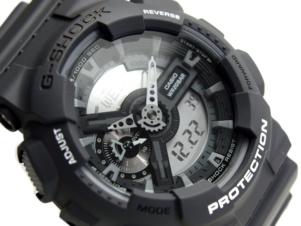 + Casio G shock reimport foreign models an analog-digital watch white mirror LCD マットグレーブラック urethane belt GA-110C-1A