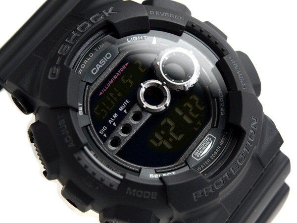 6c207c080 G-SUPPLY: + Casio overseas model G shock new digital watch black liquid  urethane belt GD-100-1B | Rakuten Global Market