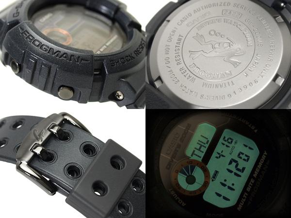 Casio reimportation G-Shock digital watch メンインラスティブラックフロッグマンオールブルーブラックウレタンベルト GW-200MS-1 fs3gm
