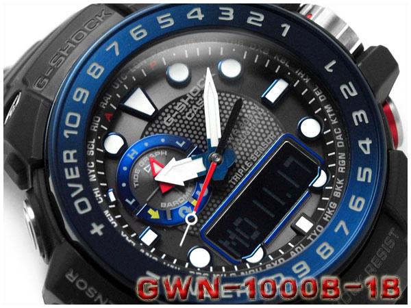CASIO g-shock GULFMASTER Casio G shock Gulf master imports overseas models  an analog-digital radio solar radio watch mens watch blue black GWN-1000B-1BCR  ... 3ac9e95d6