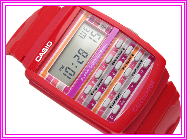 + Casio Japan not released for overseas models ポップトーン ladies Watch Red penetration color コンビレッド urethane belt LDF-40-4B