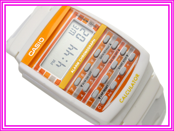 Casio Japan not released for overseas models ポップトーン ladies watch white presenting color Combi Orange polyurethane belt LDF-40-7 A