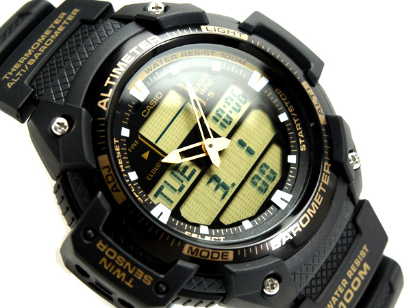 CASIO Casio OUTGEAR out gear overseas model digital Watch Gold urethane belt SGW-400H-1B2VDR