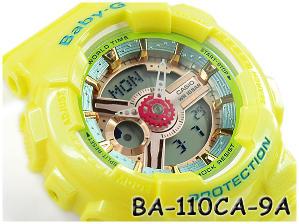 ベビーG BABY-G CASIO カシオ アナデジ 腕時計 CASIO イエロー BA-110CA-9A BA-110CA-9ACR アナデジ BA-110CA-9A, 新居浜市:4b3e251d --- officewill.xsrv.jp