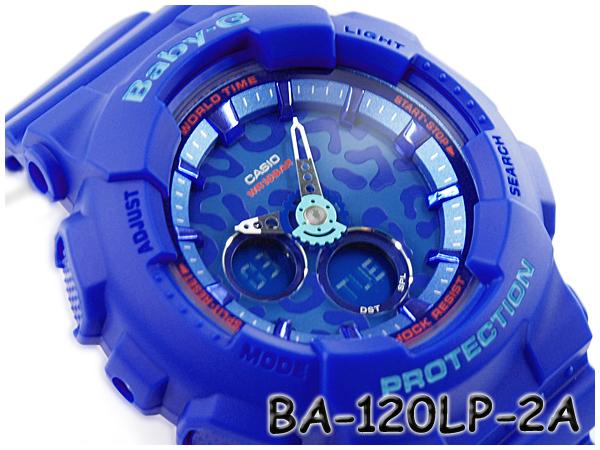 G-SUPPLY: CASIO baby-g Casio baby G series Leopard ladies an analog-digital Watch Blue BA-120LP-2AER BA-120LP-2A | Rakuten Global Market